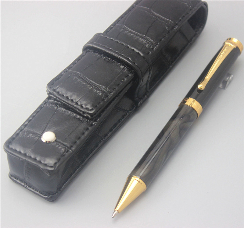 JINHAO new arrival ballpoint Pen and pen bag School Office Stationery luxury roller ball pens men women send a refill 018 white jinhao ballpoint pen and pen bag school office stationery roller ball pens men women business gift send a refill 012
