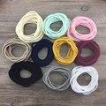 10 pçs/lote Novo estilo Suave Stretchy traceless base fina skinny Headbands De Nylon para As Meninas para o bebê infantil headband acessório do cabelo
