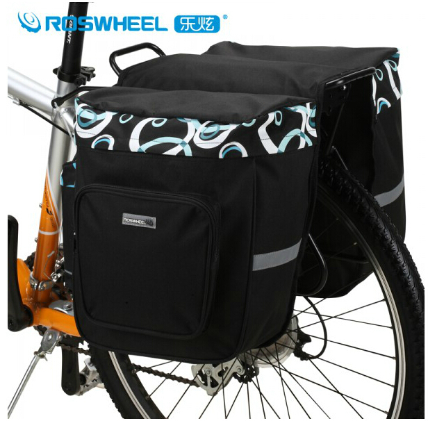 ФОТО Roswheel 30L Bicycle Bags Bike Rear Seat Bag Cycling Pannier Bicycle Basket For Mountain Bike Cycling Accessories Free Shipping
