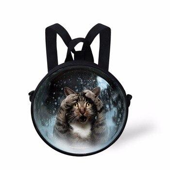 a2408b452852 Noisydesigns 3D Детский рюкзак для девочек Симпатичные пекинес забавные  rugzak дети Backbag 12 дюймов Сумка Повседневное школьная сумка Mochila  Feminina