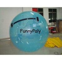 Раздувной шарик воды идя для арендного, оборудования шариков Зорбинг Аква, шарик Зорб Германии раздувной, Голубой шарик поло воды ПВК 2 м