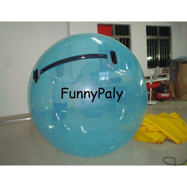 inflatable water walking ball for rental,aqua zorbing balls equipment,germany inflatable zorb ball,blue 2m pvc Water Polo Ball