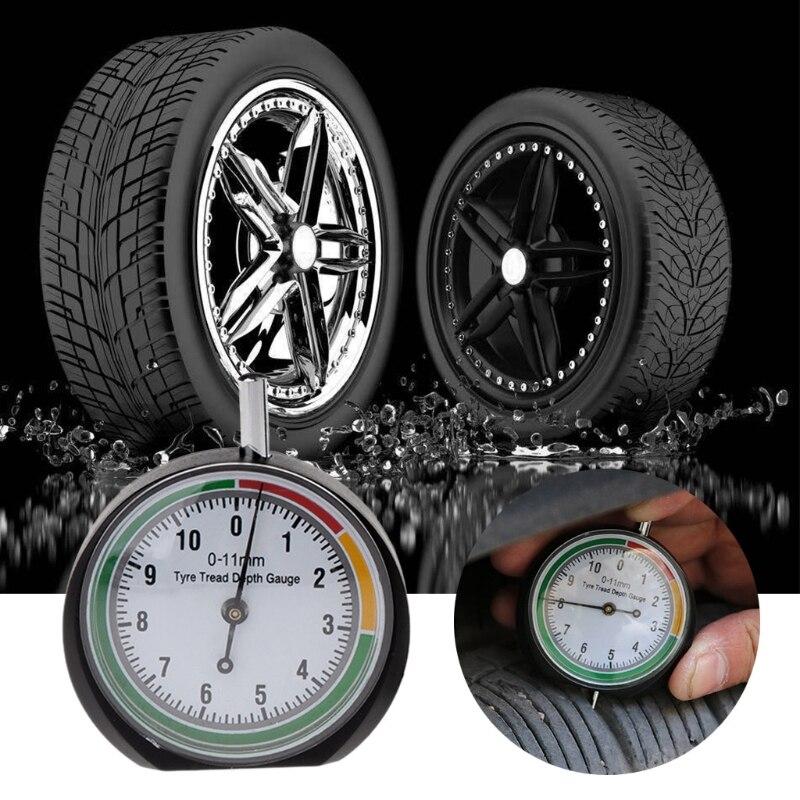 Car Tyre Tread Depth Gauge Trucks Van Tire Pointer Monitor Measure Device Tool-M15