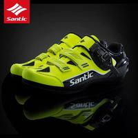 SANTIC Cycling Bike Bicycle Shoes Sneaker Breathable Outdoor Sport Professional Road MTB Bike Shoes Non Slip No Lock Equipment
