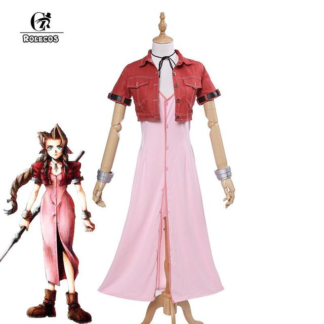 rolecos brand new japanese game final fantasy vii 7 cosplay costumes