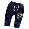 2017 nova Primavera calças do bebê 100% calças de algodão de alta qualidade dos desenhos animados bonitos do bebê meninas 0-2 anos de Moda casual calças