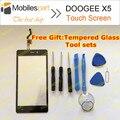Doogee x5 tela sensível ao toque de 100% painel digitador substituição da tela de toque original para doogee x5 pro telefone em estoque frete grátis