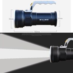 Image 2 - 8000LM LED זרקור פנס ארוך טווח בחוץ פנס נטענת עוצמה חיפוש הבזק אור לפיד עם 18650 סוללה