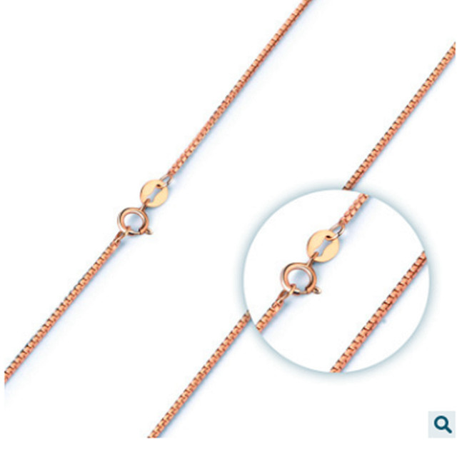 30925 sterling silver jewelry fashion trend all match rose gold box