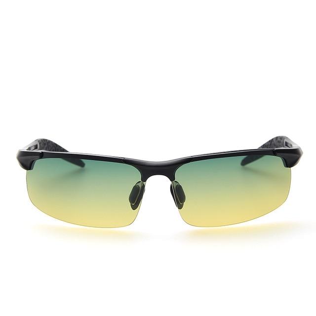 Men Night Driving Glasses Aluminum Alloy HD Night Vision Goggles Anti-glare Polarizer Sunglasses Car Drivers Glasses 2