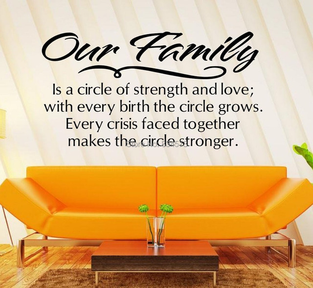 Our family is a circle of strength and love Wall Art Stickers Decal DIY Home Decoration  sc 1 st  AliExpress.com & Our family is a circle of strength and love Wall Art Stickers Decal ...