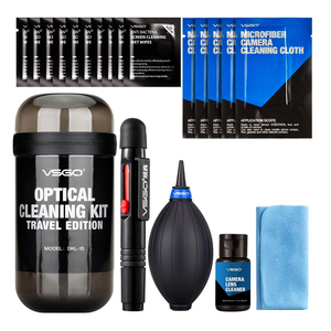 Image 1 - New VSGO 6 In 1 Optical Cleaning Kit Travel Edition With Camera Lens Pen Air Blower Cleaning Cloth Waterproof Bottle.