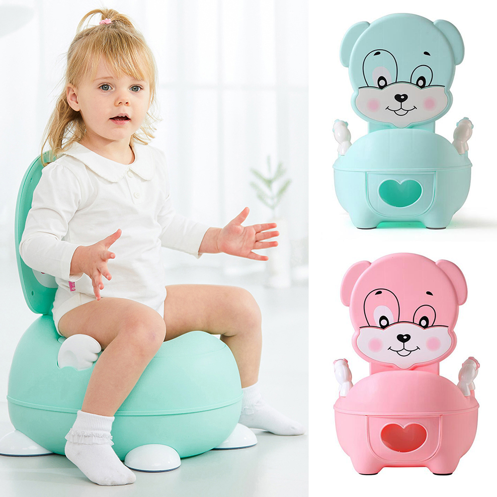 Cartoon Puppy Potty Portable Baby Potty Toilet For Babies Child Pot Training Potty For Kids Chair Toilet Seat Children's Pot