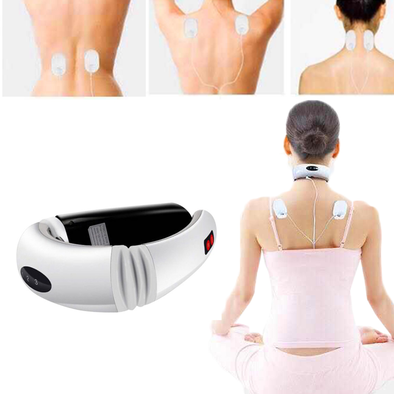 купить Multifunction Neck Physiotherapy Massager Cervical Massager Electromagnetic Shock Pulse Cervical Physical Therapy Instrument по цене 807.81 рублей