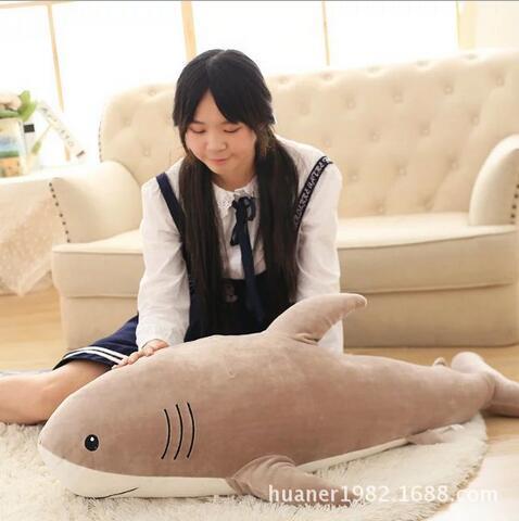 115 cm simulation jouets en peluche requin oreiller bourré de haute qualité poupée cadeau d'anniversaire - 2