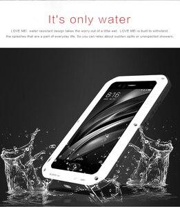 Image 4 - TÌNH YÊU MEI mi6 Kim Loại Bảo Vệ Armor Trường Hợp trên cho Xiaomi mi 6 mi6 Glass Bìa Fundas Xiaomi mi6 Điện Thoại Chống Sốc Trường Hợp Nam Nữ