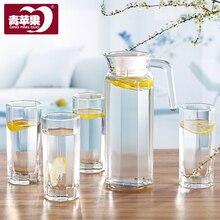 Ультра-Толстый Стеклянный чайник для воды пять Полный Набор кружек чайник для воды