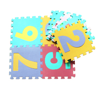 10PCS Baby Play Mat EVA Foam Puzzle Mat Children Numbers 0-9 Learning Mats High Quality and Safe Toys for Kids 30*30cm