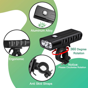 Image 4 - LED Flashlight 2/3*T6 Bicycle Light Built in 5200mAh Battery USB Rechargeable Front Cycling Flashlights with Taillight Gift
