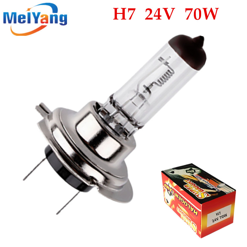 1pcs H7 24V 70W 4300K Yellow Fog Halogen Bulb light running Car Head Light Lamp car styling car light source parking day