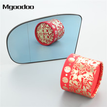 Mgoodoo 1Pc Car left Side Rear View Mirror Aspherical Heated Glass 2038100121 For Mercedes E C Class W211 W203 Blue Styling