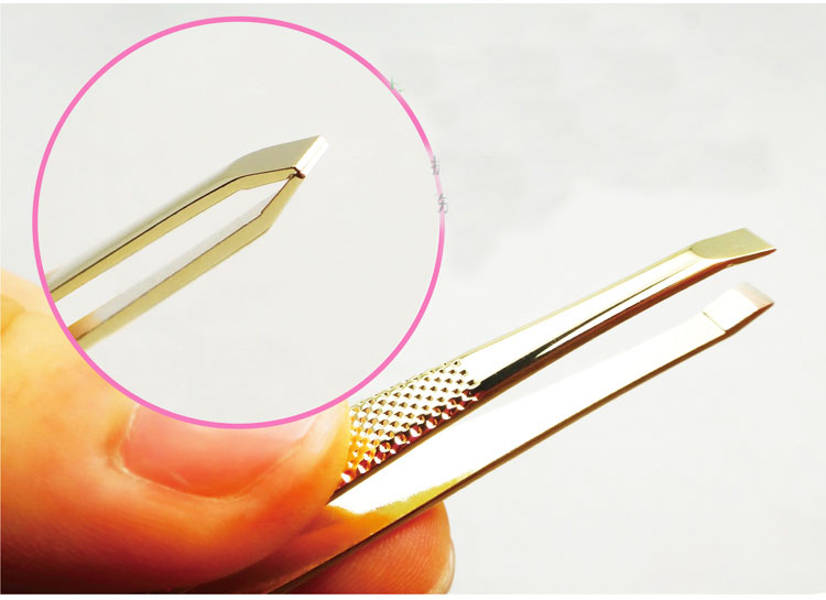 Eyebrow Tweezer clip Beauty Tool for Face Nose hair remover false Eyelashes clip Eyebrow Flat Tip Facial Makeup Tools