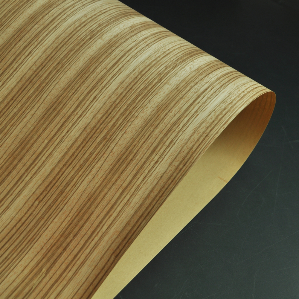 Natural Cross Cut Zebrano Wood Veneer With Fleece Backer