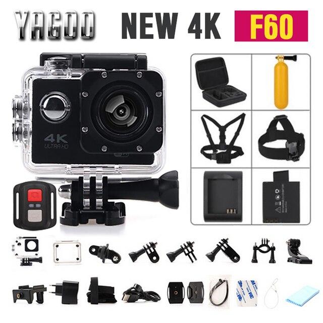 Gopro hero 4 estilo de F60/F60R Wifi Action Camera 4 K controle Remoto Extrema ir pro Mini Cam Mergulho À Prova D' Água Esporte câmera