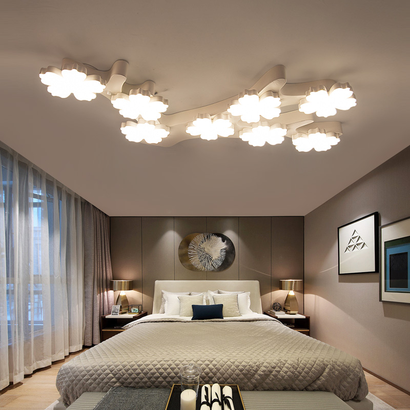 цена на Novelty Creative Ceiling lighting Post-modern minimalist living room fixtures bedroom lamps plum LED aisle Ceiling Lights