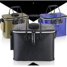 Складные портативные сумки для рыбалки, походные сумки для рыбалки, Новые плотные ведро из ЭВА для ловли рыбы на открытом воздухе