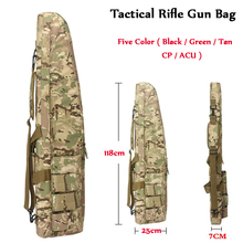 Tactical 118CM Heavy Gun Slip Carry Bag Rifle Gun Case Shoulder Bag Nylon Pouch Outdoor Airsoft  Paintball Hunting Backpack tacitcal military men 120x30cm oxford carry bag waterproof outdoor hunting airsoft gun bag rifle case shoulder pouch backpack