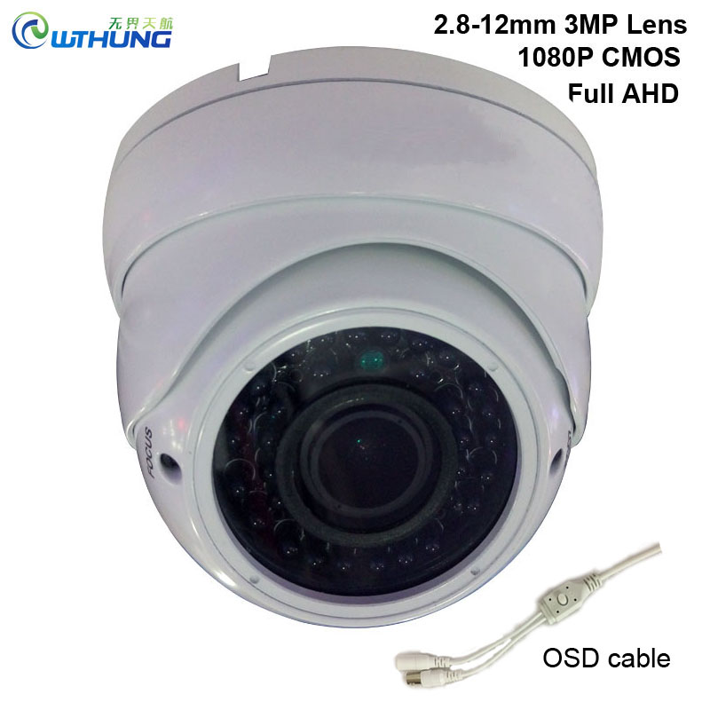New 1080P AHD Camera 3MP Sony323 4 in 1 OSD Motion outdoor waterproof 2.8-12mm varifocal lens Night Vision security cctv cameras sheet pet p white 3 4 in t 12 x 12 in