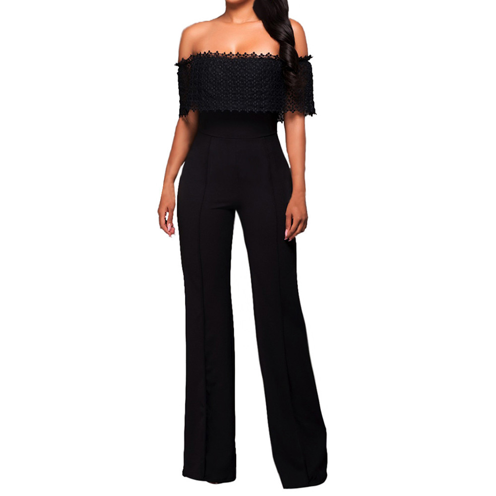 Free Ostrich rompers womens   jumpsuit   summer women Sleeveless Turtleneck Stripes High Waist Flared   Jumpsuits   Rompers Pant D1235