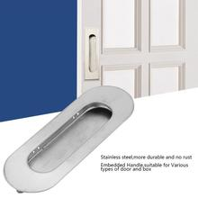 5Pcs Embedded Door Handles Hidden Pull For Cabinet Cupboard Door Drawer Wardrobe Sliding Recessed Pulls sliding door handle HOT
