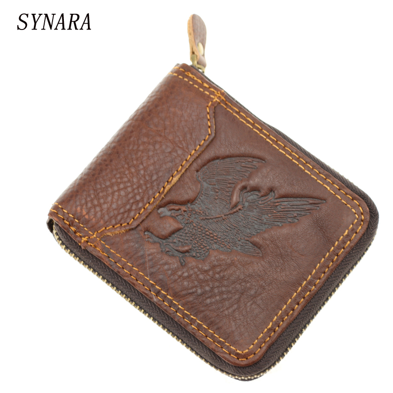 New arrival men wallets 100% Genuine Leather Zipper Around Wallet Card Holder  Brown freeshipping new arrival 100