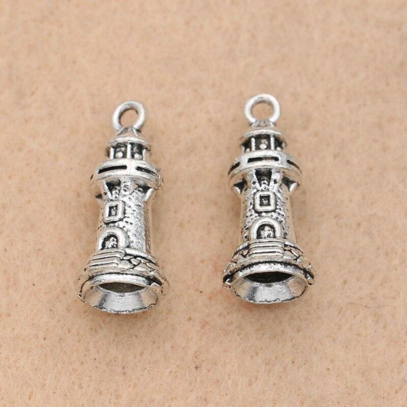 10 Stücke Antike Silber Überzogene Burg Anhänger Fashion Anhänger Schmuck Diy Schmuck Erkenntnisse Handgemachte 20x9mm