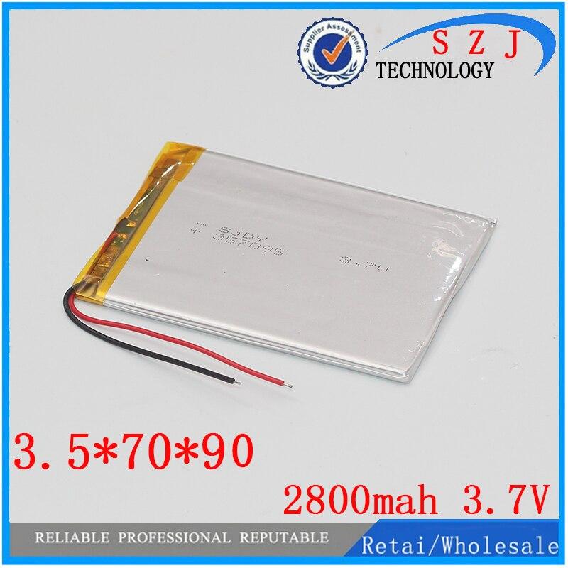Bateria de polímero de íon de lítio 3.7 V, 357090 pode ser personalizado por atacado CE FCC ROHS MSDS certificação de qualidade Frete grátis