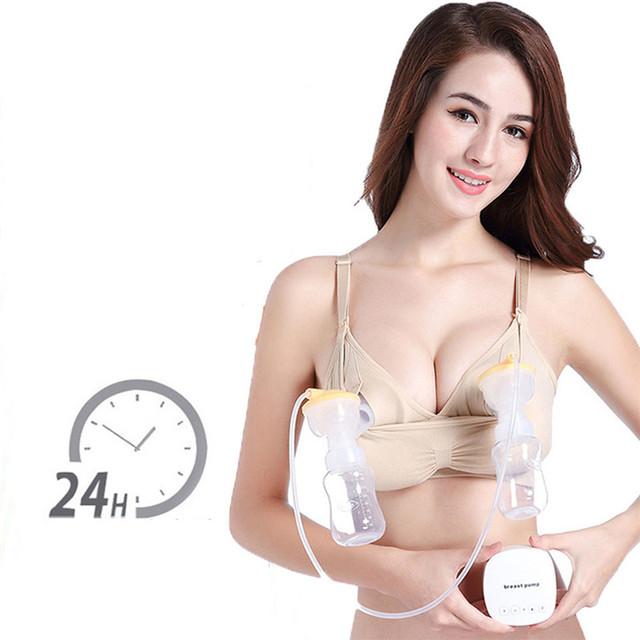 Las mujeres Bra de enfermería maternidad manos sujetador cómodo transpirable de ropa interior de algodón de manos libres embarazada sujetadores de lactancia