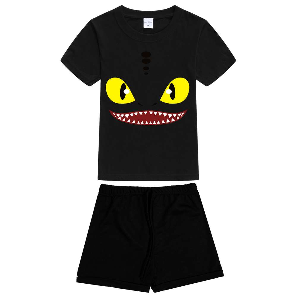 dragon night fury Toothless 4-10Y Children Kids Boys Summer Clothes Sets Boys T-Shirt + Shorts Sport Suit baby Boy Clothing