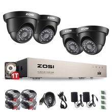 ZOSI 8CH CCTV System 1080N HDMI 4IN1 DVR 4PCS 720P IR Outdoor Camera Home TVI Security System Surveillance Kits 1TB HDD