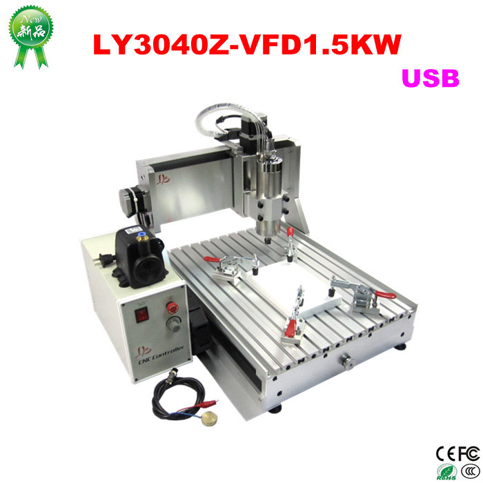 Russia no tax Mini new 1.5kw cnc 3040 router engraver/ engraving drilling and milling machine with USB port ship from uk no tax cnc router 3040 z s engraver engraving machine carving drilling milling machine can add 4th axis