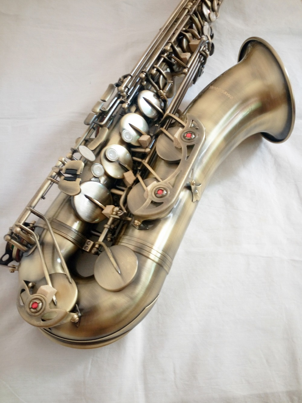 Tenor sax Top High-quality France Yanagisawa T-992 B flat tenor saxophone Musical instruments Autique copper Simulation shipping selmer of france b flat tenor sax instruments shipping professional performance suitable for beginners