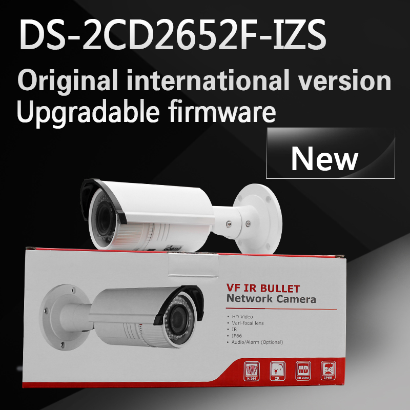In stock free shipping English version DS-2CD2652F-IZS DS-2CD2655F-IZS 5MP WDR mortorized varifocal lens Bullet Network Camera free shipping in stock new arrival english version ds 2cd2142fwd iws 4mp wdr fixed dome with wifi network camera