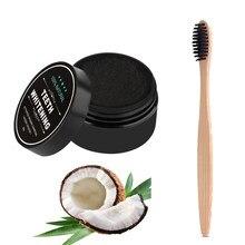 Polvo para blanquear los dientes cepillo de dientes de carbón vegetal Medio ambiente cerdas suaves cepillo de dientes de madera pasta de dientes de bambú negro