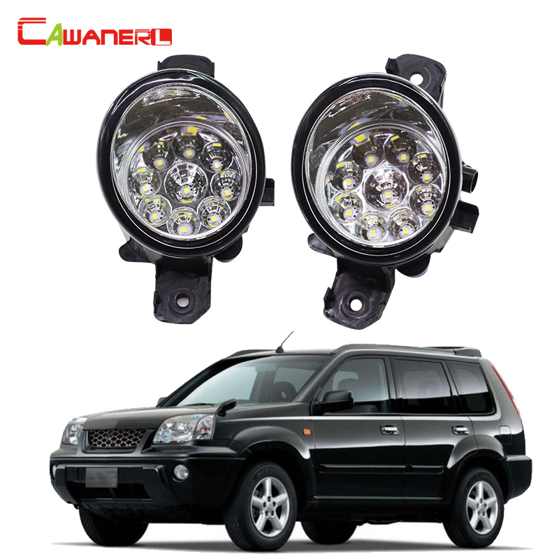 Cawanerl 1 Pair Car Styling LED Light Fog Light Daytime Running Light DRL Blue Orange White For Nissan X-Trail (T30) 2001-2006 10w 7000k 900 lumen 5 led white light daytime running lamps for car pair dc 12 24v