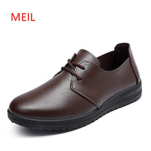 Leather Shoes Men Loafers 2018 New Breathable Flat Mens Prevent Slippery Wear-resisting Driving