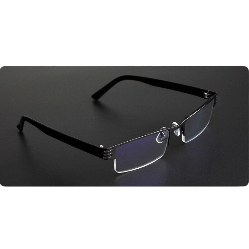 Men Women Titanium Alloy Blue Film Resin Reading Glasses Prescription Eyeglasses +1.00 1.50 2.00 2.50 3.00 3.50 4.00 Diopter 1
