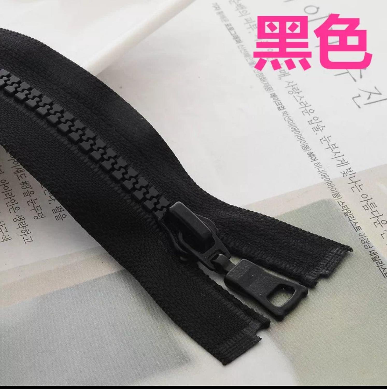 No.8 No.5 No.10 BLACK CHUNKY OPEN END ZIP *10-40 INCH* 16 LENGTHS ZIPPERS