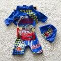 Baby Boy Verão Maiô One Pieces Set Com Chapéu estilo Praia Swimwear Floral Criança Miúdos Bonitos Swimwear Guardas Rush S2060
