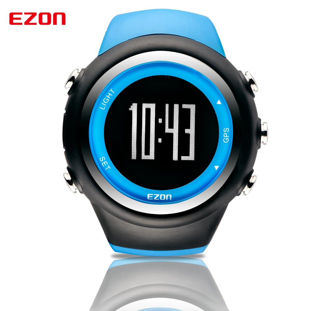 EZON outdoor GPS timing function luminous waterproof men riding pace running speed sports watch electronic watch
